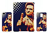 Johnny Cash gives the finger new Samsung Galaxy S7 EDGE Handy Tasche Hülle