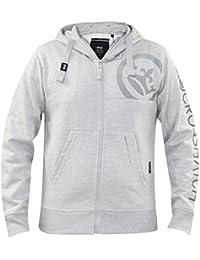 Crosshatch Mens Embroidery Soft Logo Print Zip up Hoodies