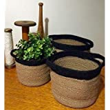 Printshoppie Handcrafted Woven Natural Jute and Cotton Floral Pots Bag with Vermi Compost and Coco Peat Kit for All…