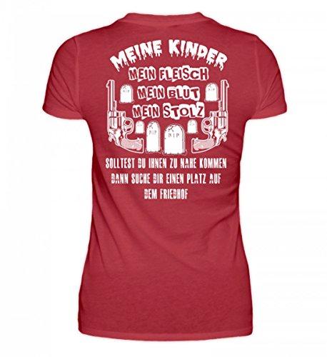 Camicia Biologica Da Donna Di Alta Qualità - I Miei Figli - La Mia Carne Il Mio Sangue Il Mio Orgoglio Rosso Scuro
