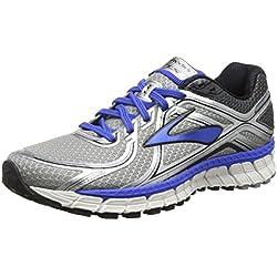 Brooks - Adrenaline Gts 16 - 110212 1B 181, Zapatillas de Running para Asfalto Hombre, color plateado, talla 42.5 (talla fabricante: 8 UK)