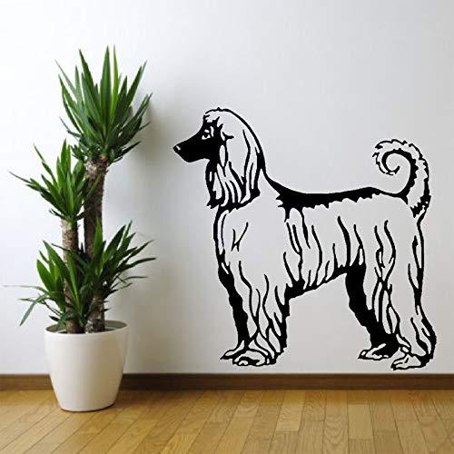 zhuziji Persönlichkeit Afghan Hound Dog PVC Wandaufkleber Für Zimmer Aufkleber 88A-1 50 cm * 50 cm -