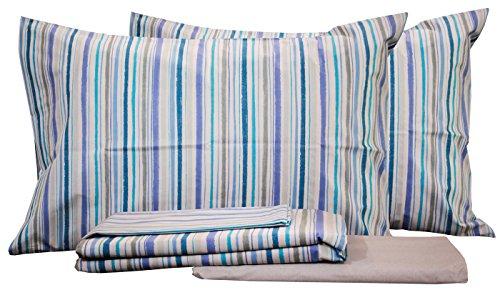 Copripiumino rea azzurro matrimoniale zucchi- tessuto percalle 70 fili di cotone