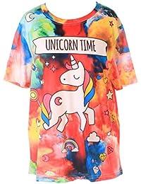 T-Shirt Damen Shirt Sommershirt kawaii bunt sweet süss Unicorn Einhorn cutie