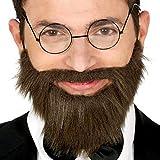 NET TOYS Fausse Barbe avec Moustache | Noir avec élastique | Accessoire Original pour Homme Barbe postiche avec élastique | Convient pour fête costumée & soirée à thème