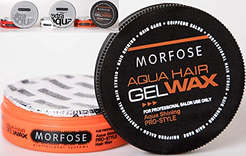 MORFOSE Aqua Hair Wax – 175 ml. Professional Hair Care For An Incredible Shine And Strong Hold