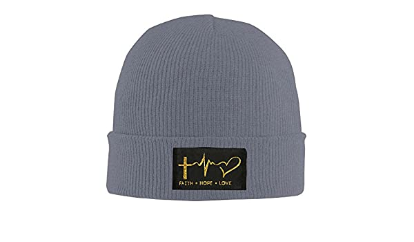 Daily Woolen Cap Mens Womens Faith Love Hope Ski Cap