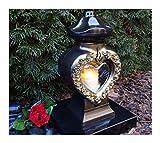 ♥ GRABLAMPE Herz Incl. LED-Grablicht 34