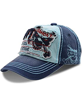 Moda Papá sombreros gorra de béisbol de algodón - UPhitnis Unisex gorras de béisbol ajustable con enérgicas cráneo...