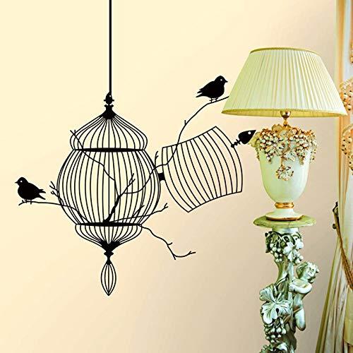 Geschnitzte vogelkäfig und vogel aufkleber Wasserdichte wohnzimmer schlafzimmer hintergrund wohnkultur pvc Generation wandaufkleber -
