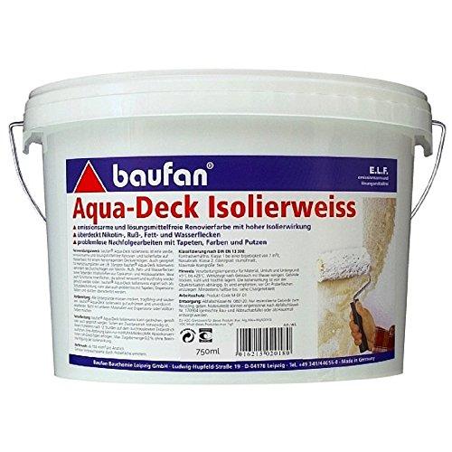 Baufan Aqua-Deck Isolierweiss 750ml (Aqua Deck)
