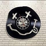 jukunlun Nirvana Odora di Spirito Adolescenziale Orologio da Parete in Vinile Art Gift Room Modern Home RecordOrologio da Parete conDecorazione Vintage