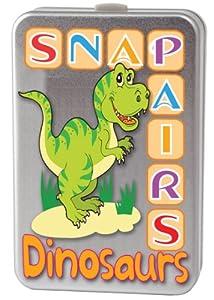 Snap + Pairs - Juego de cartas Dinosaurios, para 2 o más jugadores (Cheatwell Games 12643) (importado)
