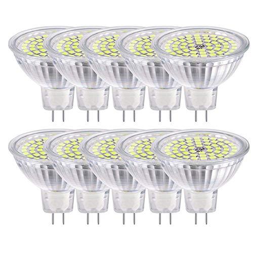 GVOREE MR16 GU5.3 LED Lampen Lampe Natur Tageslicht Weiß AC DC 12 V 5 Watt Ersetzen 50 Watt Halogenlampe GU5.3 LED Spot Glühbirnen 4000 Karat 120 °Abstrahlwinkel Helligkeit Nicht Regelbar 10 -