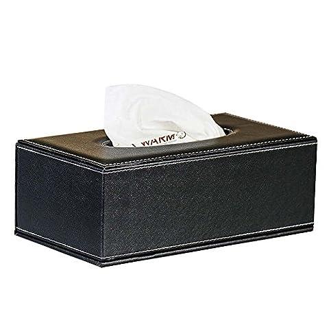 Cuir PU Boîte à mouchoirs Coque support plateau de luxe élégant rectangulaire support pour serviettes de table papier de pompage Coque Distributeur pour Home Office Hôtel de voiture automobile Décoration