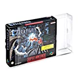2 Klarsicht Schutzhüllen Super Nintendo Big Box [2 x 0,3MM SNES BIG BOX OVP] Spiele Originalverpackungen Passgenau Glasklar
