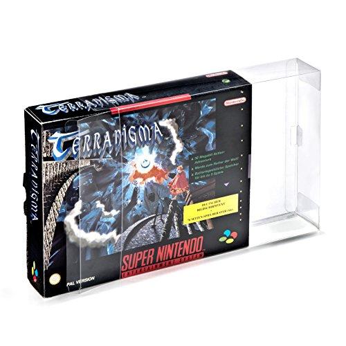 1 Klarsicht Schutzhüllen Super Nintendo Big Box [1 x 0,3MM SNES BIG BOX OVP] Spiele Originalverpackungen Passgenau Glasklar (Metroid Prime 2 Wii)
