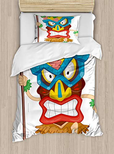 ettbezug Set Einzelbett, Natives Kostüm, Kuscheligform Top Qualität 2 Teiligen Bettbezug mit 1 Kissenbezüge, Mehrfarbig ()