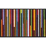 Flash Fusion Medley Striped Multi Doormat Colourful Stripey Entrance Mat