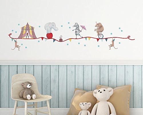 TinyFoxes Stickerset Zirkus für die Wanddekoration im Kinderzimmer