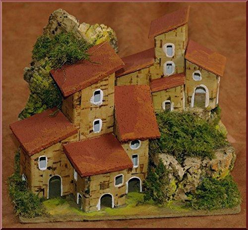 Gruppo case 15x10x11,5cm edifici accessori presepe