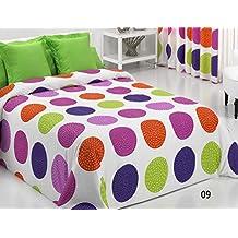 Reig Martí Forli - Juego de funda nórdica estampada, 3 piezas, para cama de 105 cm, color morado