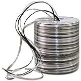 Präsent - Bobina de cinta de rafia para decoración (50 m), color plateado