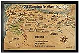 1art1 97536 Jakobsweg - EL Camino De Santiago Anno 1445,