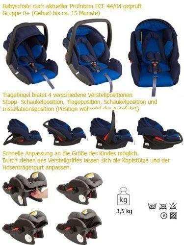 United Kids 101259 Babyschale Protect, Gruppe 0, 0-13 kg, blau
