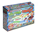 Speedway Glow Trax Magic Race Track Set With Light Up Car 221 Piece (11 feet) of Flexible Assembly Track