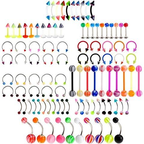 Lot De Piercing Cartilage - PiercingJ - Lots 100pcs Piercings Boucles Clou