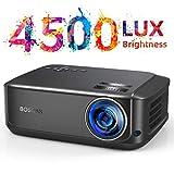 Beamer für Heimkino Office 1080P Full HD, 4500 Lumen Multimedia LCD Video Projektor LED 50000 Stunden mit max 200' Display, Verbindung mit HDMI VGA SD USB AV Gerät