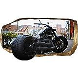 Startonight 3D Tapete Harley Davidson, Wandmalerei Bild an der Wand Großformat Modern Muster Dekorative Kunst Wand 120 x 220 CM