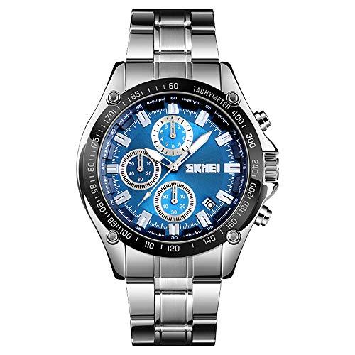 Xiang Qian Zhang Armbanduhr männer,Sportuhren Herren,Herrenuhr Chronograph Datum Sport Quarz Uhr Herren Edelstahl Wasserdichte Herrenuhre