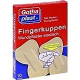 FINGERKUPPEN WUNDPFLASTER elast. m. Fingerling 10 St