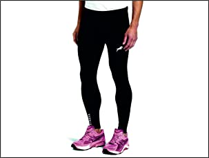Rider Full Length Compression Tights Multi Sports Exercise/Gym/Running/Yoga / Other Outdoor ineer wear for Sports - Skin Tight Fitting - Black Color