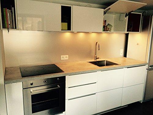 Küchenanrichte, 60x60cm, aus eloxiertem Aluminium, gebürstet, geeignet für Lebensmittel, 1,5mm