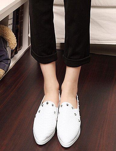 ShangYi Scarpe Donna - Mocassini - Tempo libero / Formale / Casual - A punta - Piatto - Finta pelle - Nero / Bianco White