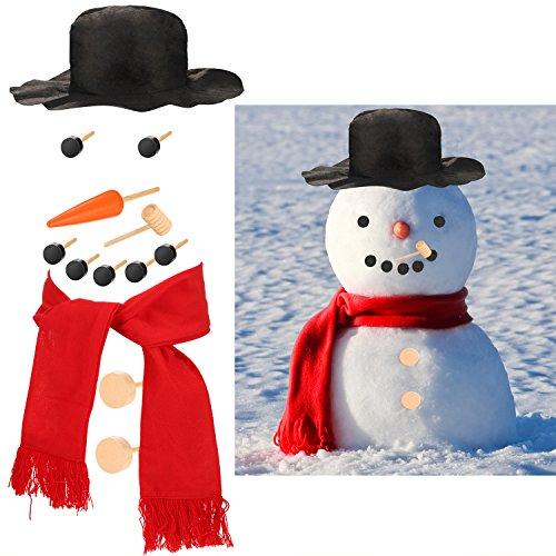 n Dekoration Dressing Kit Schneemann Machen Gebäude Zubehör für Spaß Winter Party Urlaub Outdoor Weihnachtsgeschenk (Bauen Sie Ihre Eigenen Kostüm)