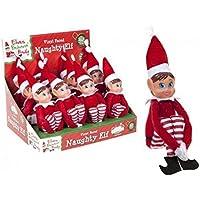 """Nouveau Noël - Elves Behavin Mal Rouge 12""""Jambe Longue poupée Douce Vilain Fille Elfe"""