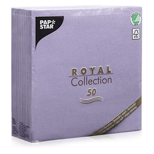 Papstar 50Serviettes Royal Collection Pliage 1/440cm x 40cm Lilas, 84236