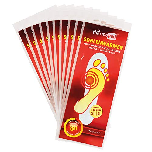 THERMOPAD Sohlenwärmer, 10 Paar, 8h Wärme, Größe XL