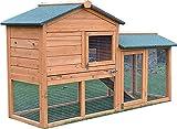 FeelGoodUK Clapier/cage à cochon d'Inde à double étage Tiroir à déjections inclus