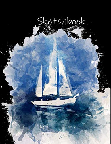 Preisvergleich Produktbild Sketchbook: Vintage Schiff Ölgemälde / Dickes Notizheft,  Skizzenbuch,  Zeichenbuch,  Blankobuch,  Sketchbook 120 Seiten / für Kinder,  Künstler und Comic Zeichner