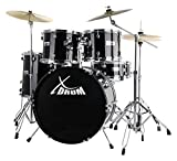 "XDrum Semi 22"" Standard Schlagzeug Midnight Black Set schwarz"