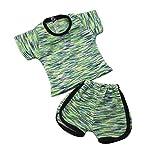 Baoblaze 2pcs Puppe T-Shirt & Shorts Hose Sport Freizeitkleidung Für 18 Zoll Mädchen Puppe Dress...