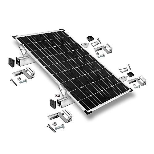 Offgridtec© Solar Befestigungs-Set für 3 Solarmodule - für Dachziegel