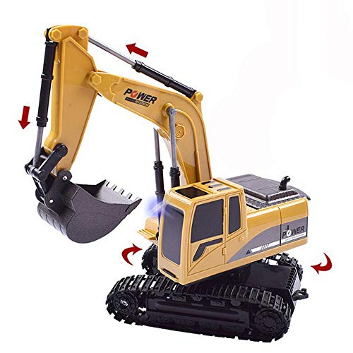 Elektrischer Bautraktor mit RC Fernbedienung Bagger Modell Spielzeug für Kinder, MMLC 1:24 Bagger Sandkasten Modell Engineering Fahrzeug hohe Simulation Modell Spielzeug Kinder Geschenk (Mehrfarbig)*
