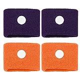 Healifty braccialetti per la riduzione della cinetosi digitopressione banda anti-nausea per bracciale per auto da mare in volo bracciale per malattia da viaggio in gravidanza 2 paia (colore casuale)