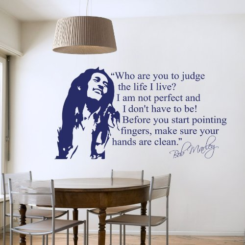 Bob Marley - Wall Decal Art Sticker lounge living room bedroom (Medium) by Wondrous Wall Art